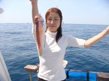 富浦沖でアマダイ