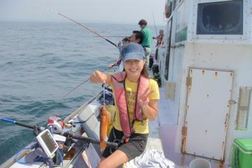 初めて釣り上げたスルメイカ