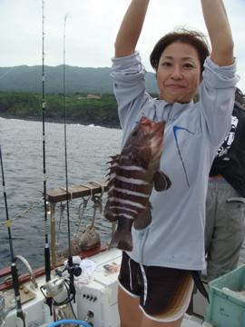 美味そうなハタ。釣ったのはのんちゃんでした
