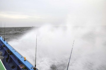 波をドンドン突きって木更津沖へ30分