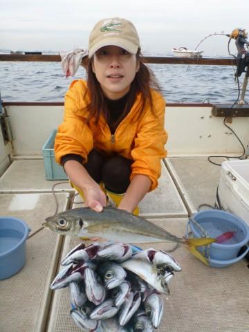 サバが久しぶりに大漁です!!!アジはジャンボサイズ・・・