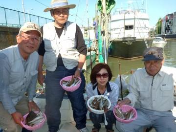 トップは40匹。吉川さんはマコガレイ、20cm位のホウボウも釣れた今日の釣果