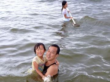 ジョレン使用で子供にはチョットキツカッタ!!!寒さでお風呂に浸かってるような荒木さん親子