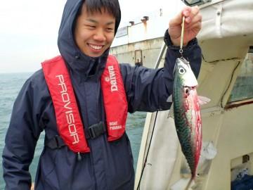 アクアラインの風の塔でサバをゲット・・・斉藤さん