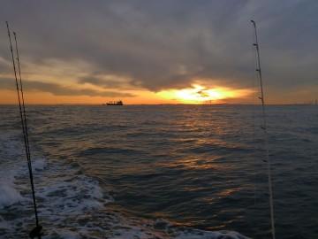 川崎沖で夕焼けが・・・