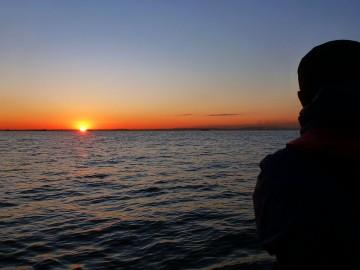 川崎沖の日の出