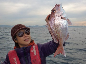 初釣りのマダイ1号