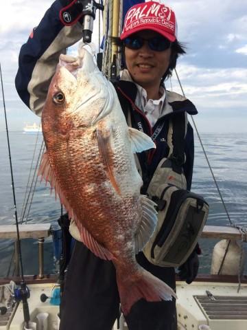 初タイラバで67cm3.7kg・・・渡部さんおめでとう