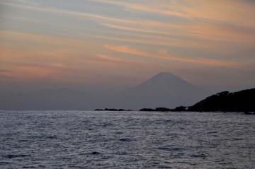 富士と夕焼け・・・