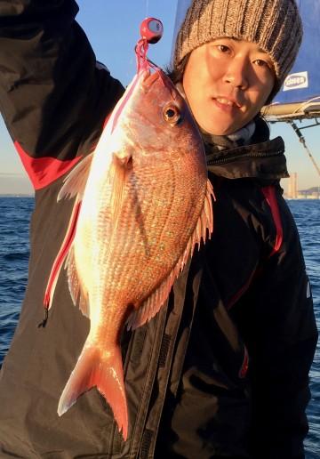 1.23kgが・・・悠介君に・・・朝一のピンクは気持ちが高ぶる!