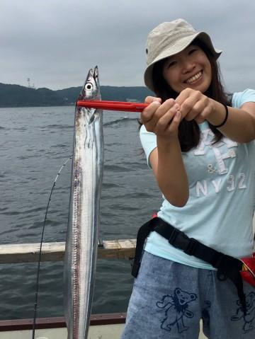 怜子ちゃん・・・エサ釣りでいいサイズを・・!