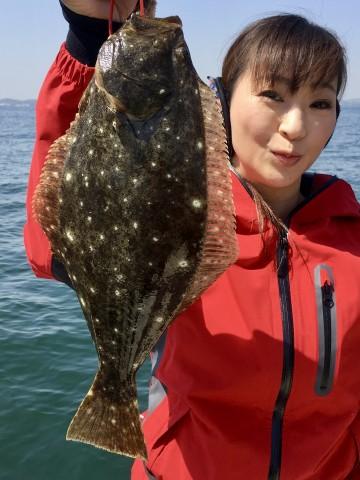 肉厚のヒラメ・・・44cm・・・!