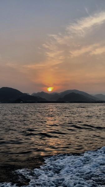 保田の美しい夜明け・・・!