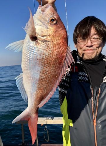 シメは2.04kg・・・大村さん9枚とホーボー・・・枚数で自己記録更新!
