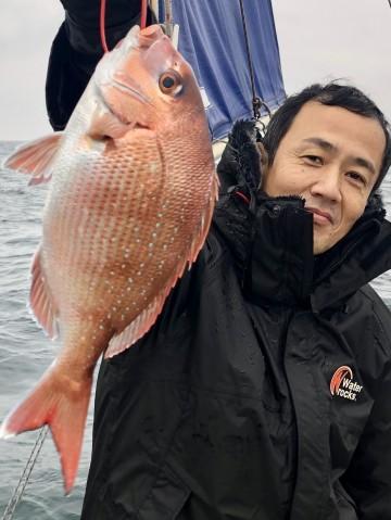 藤田さんは490g・・・キレイなピンクを・・・!
