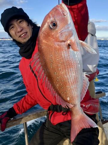 富永さんに・・1.63kg・・・見事なピンク色・・・!