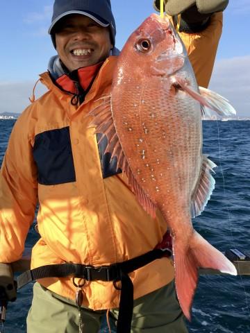 横垣内さん・・・1.04kgの綺麗なピンク・・・!