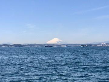 青空に富士山が美しい・・・!
