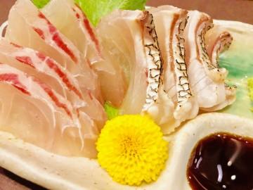 真鯛のお造り・・・甘みと脂が程よく美味しっかった・・!
