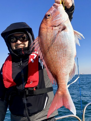島崎さん・・・2.25kgの綺麗なピンク・・・やったね!