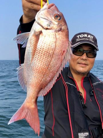 加藤さん・・綺麗なピンクは1.07kg・・・!