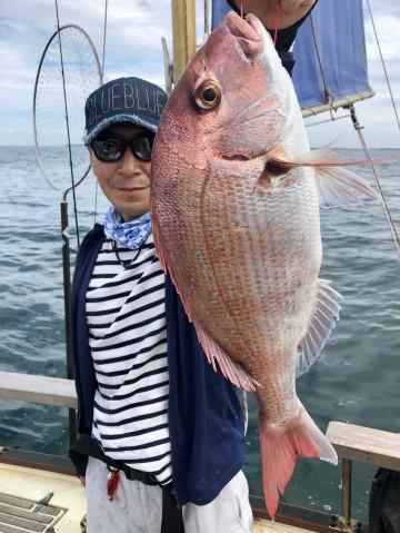 浅野さん・・・1.96kg・・・綺麗なマダイです・・・!