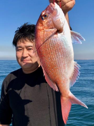 押本さんに綺麗な1.26kgのピンクが・・・!