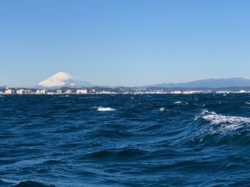 富士山の冠雪が素晴らしい・・・